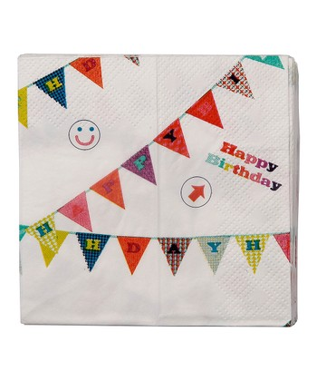 'Happy Birthday' Flag Napkin - Set of 40