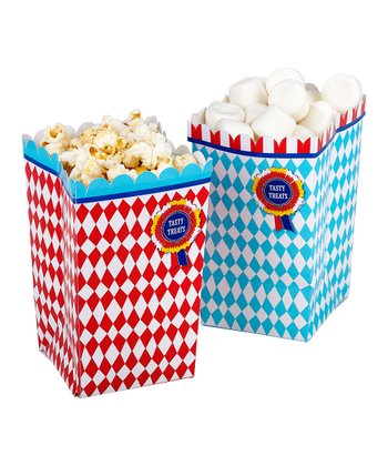 Blue & Red Check Treat Cup Set
