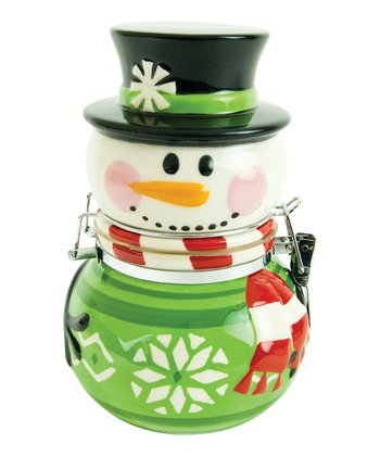 Sweater Snowman Hinged Jar