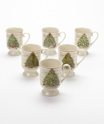 Carlson Fine Art Christmas Tradition Tree Mug Set