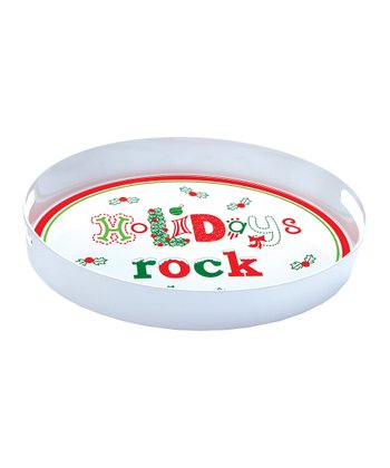 'Holidays Rock' Lolita Melamine Serving Tray