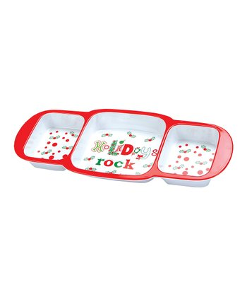 C.R. Gibson 'Holidays Rock' Melamine Divided Server