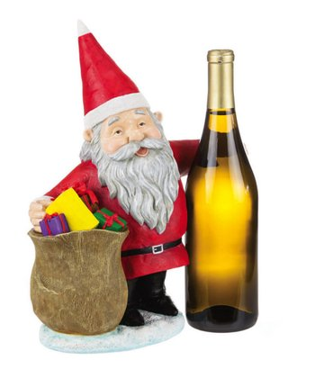 Cypress Home Santa Gnome & Sack Wine Bottle Holder