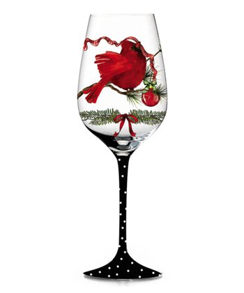A Peaceful Christmas Hand-Painted Wine Glass