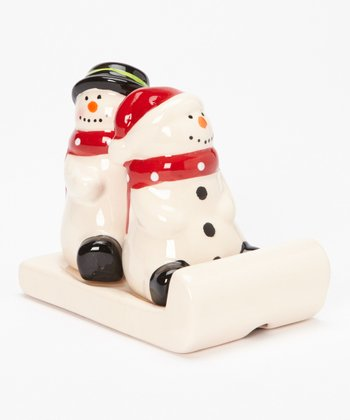 Design Imports Sledding Salt & Pepper Shakers