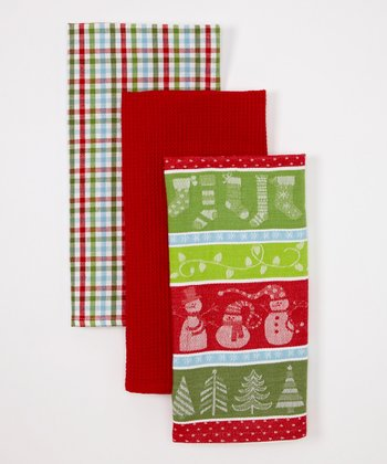 Design Imports Winter Fun Dish Towel Set
