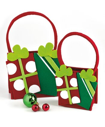 Design Imports Felt Presents Gift Bag - Set of Two