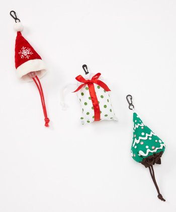 Happy Holidays Shopping Bag Set