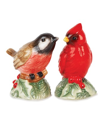 Fitz and Floyd Santa's Forest Friends Salt & Pepper Shakers