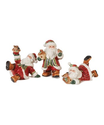 Fitz and Floyd Santa's Forest Friends Figurine Set