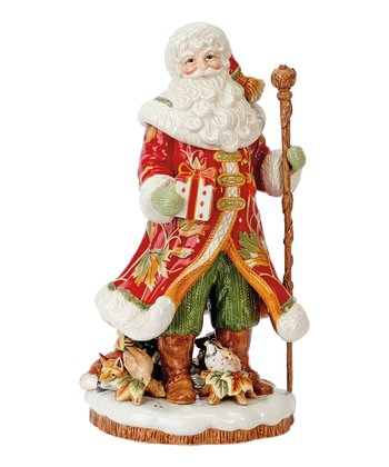 Fitz and Floyd Bountiful Holiday Santa Figurine/Vase