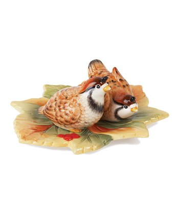 Fitz and Floyd Bountiful Holiday Salt & Pepper Shakers