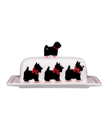 Global Design Scottie Finial Covered Butter Dish