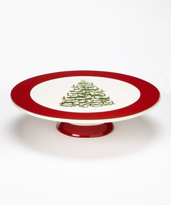Global Design Tannenbaum 12'' Footed Cake Plate
