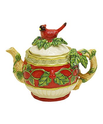 Kaldun and Bogle Red Cardinal Teapot
