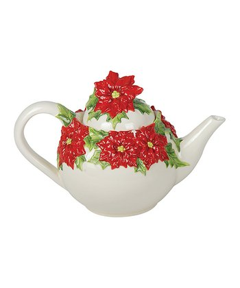 Kaldun and Bogle Poinsettia Teapot