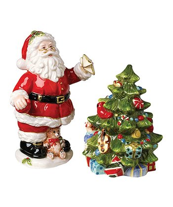 Kaldun and Bogle Santa & Christmas Tree Salt & Pepper Shakers