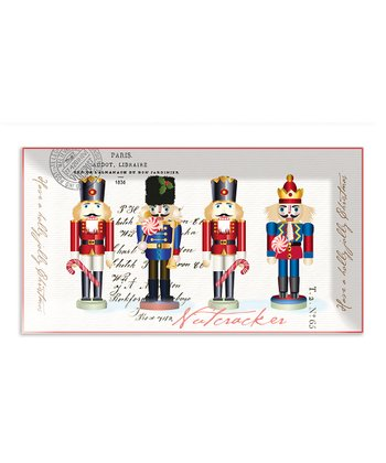 Michel Design Works Nutcracker Sweet Rectangle Glass Plate