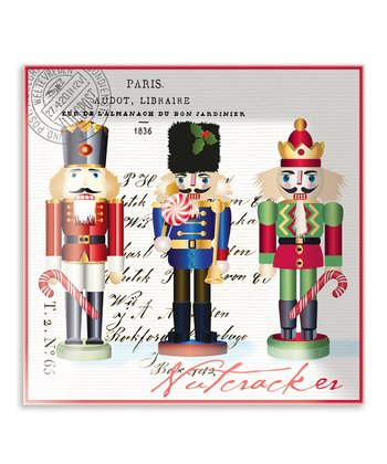 Nutcracker Sweet Square Glass Plate