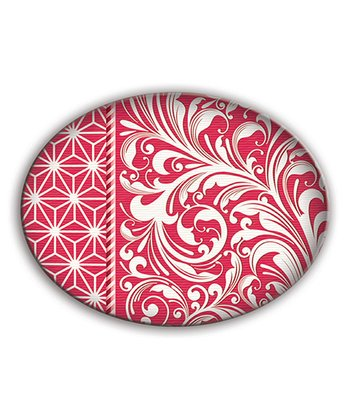 Candy Cane Oval Soap Dish