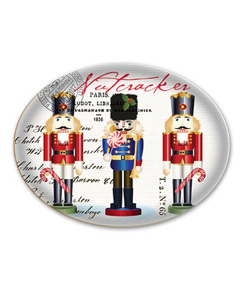 Nutcracker Sweet Oval Glass Soap Dish