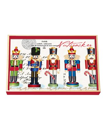 Michel Design Works Nutcracker Sweet Decoupage Wood Vanity Tray