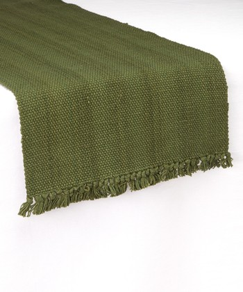 Green Casual Classics Table Runner