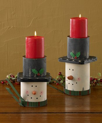 Park Designs Top Hat Pillar Holders Set