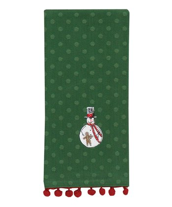 Park Designs Green Top Hat Dish Towel