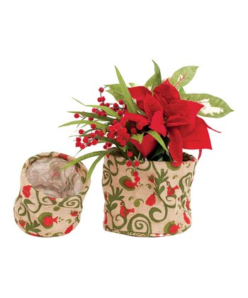 Partridge Flower Pot Cover - Set of Six