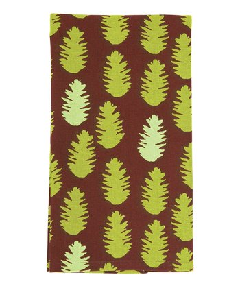 rockflowerpaper Pine Cone Brown Kitchen Towel - Set of Six