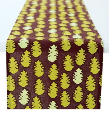 rockflowerpaper Pine Cone Table Runner