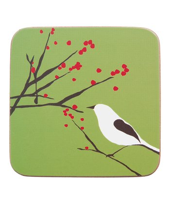rockflowerpaper Snowy Bird Coaster - Set of Four