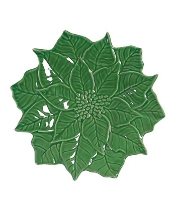 Andrea by Sadek Green Poinsettia 10.75'' Dinner Plate