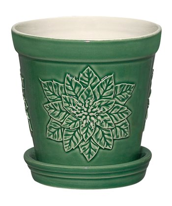 Green Poinsettia 5'' Planter