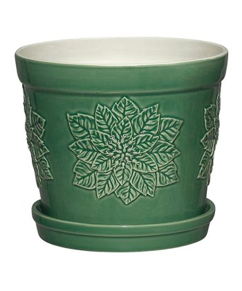 Green Poinsettia 6.75'' Planter
