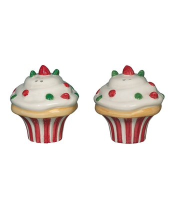 Andrea by Sadek Holiday Cupcake Salt & Pepper Shakers