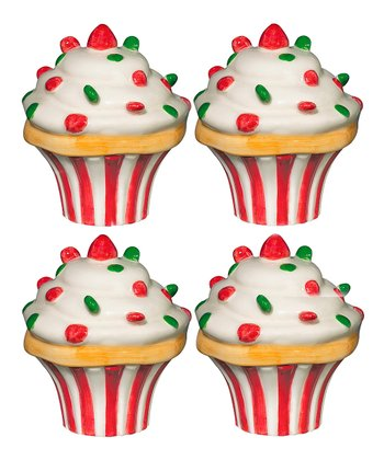 Andrea by Sadek Holiday Cupcake 3.5'' Box - Set of Four