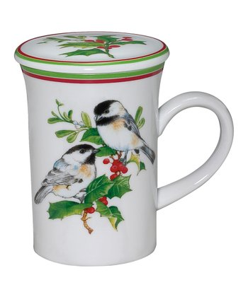 Andrea by Sadek Chickadee 4.25'' Covered Mug