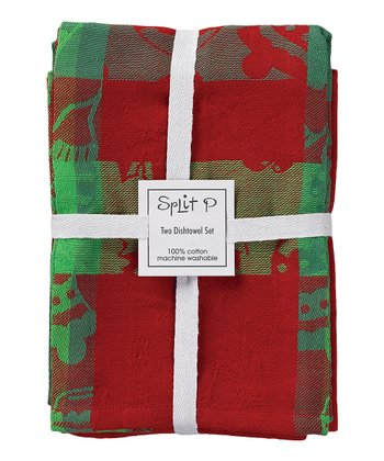 Split P Holly Days Dish Towel Set