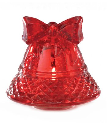 Split P Red Bell Tealight Holder