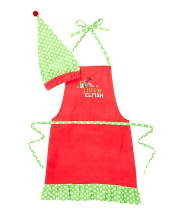 Red 'Elfish' Chef Hat & Apron