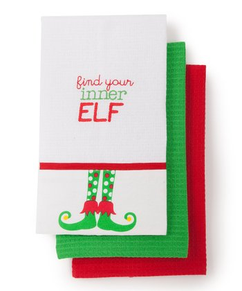 'Inner Elf' Kitchen Towel - Set of Three