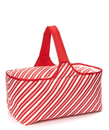 Candy Cane Stripe Insulated Picnic Basket