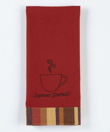 'Espresso Yourself' Dish Towel