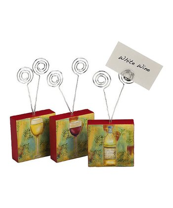 Wooden Card & Photo Holder Set