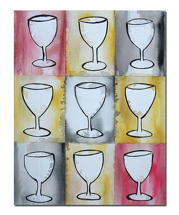 Wine on Repeat Canvas Art
