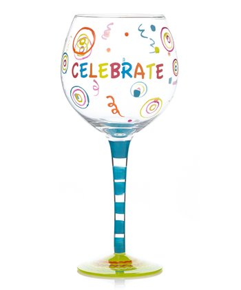 Blue 'Celebrate' 18-Oz. Wineglass