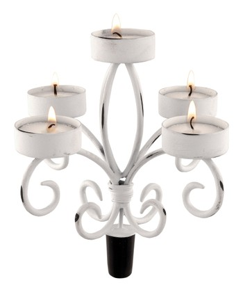 Shabby Chic Wine Bottle Candelabrum Set