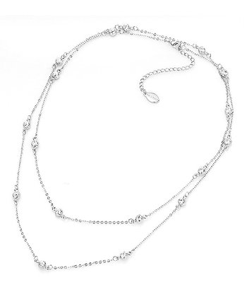 Silver Silk Necklace Made With SWAROVSKI ELEMENTS